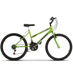Bicicleta Ultra Aro 24 Feminina Freio V Break Chrome Line Green