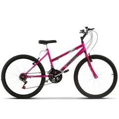 Bicicleta Ultra Aro 24 Feminina Freio V Break Chrome Line Pink