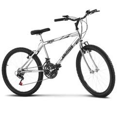 Bicicleta Ultra Aro 24 Masculina Freio V Break Chrome Line Cromada