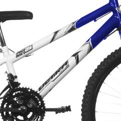 Bicicleta Ultra Aro 24 Rebaixada Bicolor Freio V Break Branco e Azul