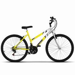 Bicicleta Ultra Aro 26 Feminina Bicolor Freio V Break Amarelo/Branco