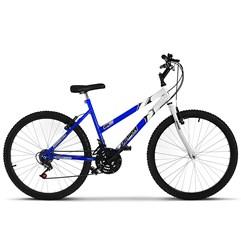 Bicicleta Ultra Aro 26 Feminina Bicolor Freio V Break Branco/Azul