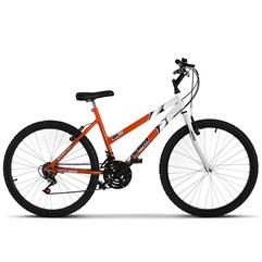 Bicicleta Ultra Aro 26 Feminina Bicolor Freio V Break Laranja/Branco