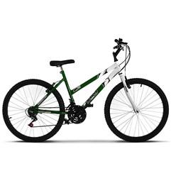 Bicicleta Ultra Aro 26 Feminina Bicolor Freio V Break Verde/Branco