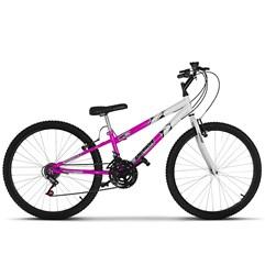 Bicicleta Ultra Aro 26 Rebaixada Bicolor Freio V Break Aro 26