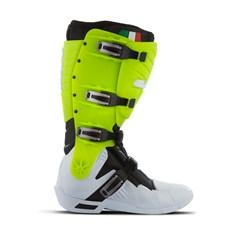 Bota Motocross Articulada Jett Hi-Vis Branco/Verde