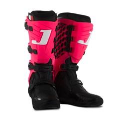 Bota Motocross Articulada Jett Hi-Vis Preto/Rosa