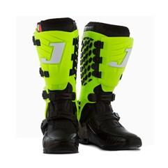 Bota Motocross Articulada Jett Hi-Vis Preto/Verde