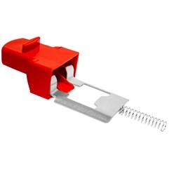 Botão De Abertura Da Fechadura Para Bauleto Pro Tork 28L E 45L Vermelho