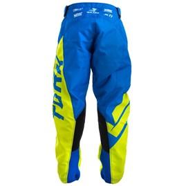 Calça Motocross Infantil Pro Tork Factory Edition Azul/Amarelo