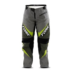 Calça Motocross Infantil Pro Tork Insane X Cinza e Amarelo