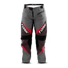 Calça Motocross Infantil Pro Tork Insane X Cinza e Vermelho