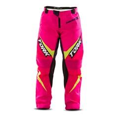 Calça Motocross Infantil Pro Tork Insane X Rosa e Amarelo