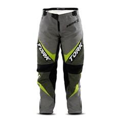 Calça Motocross Insane X Cinza e Amarelo