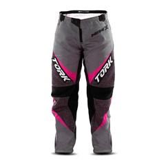 Calça Motocross Insane X Cinza e Rosa