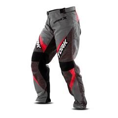 Calça Motocross Insane X Cinza e Vermelho