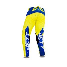 Calça Motocross Jett Evolution 2 Azul/Amarelo