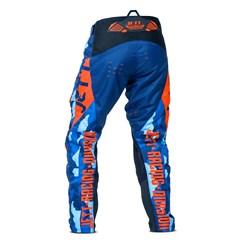 Calça Motocross Jett Factory Edition 3 Azul - Laranja
