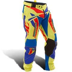 Calça Motocross Pro Tork Fleet Amarelo/Azul