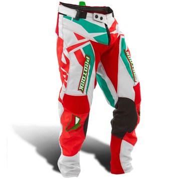Calça Motocross Pro Tork Fleet Vermelho/Verde