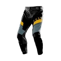 Calça Motocross Trilha Enduro Etceter Fuse Preto - Amarelo