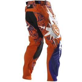 Calça Motocross Troy Lee SE Piston Laranja/Roxo