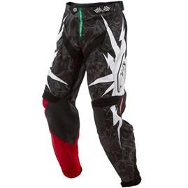 Calça Motocross Troy Lee SE Piston Preto/Vermelho