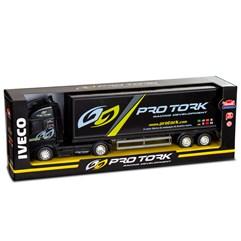 Caminhão Baú Brinquedo Pro Tork Preto