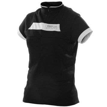 Camisa Bike Troy Lee Feminina Ace Black