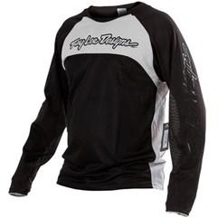 Camisa Bike Troy Lee Sprint Black White