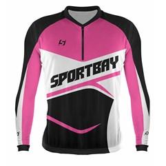 Camisa Ciclismo Bike Sportbay Manga Longa + Manguito Pro Tork