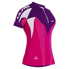 Camisa Ciclismo Bikes Max Dry Manga Curta Rosa
