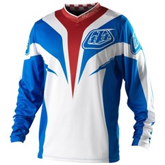Camisa Infantil TroyLee GP Mirage Azul/Branca