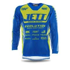 Camisa Jett Mod. Evolution Azul/Amarelo