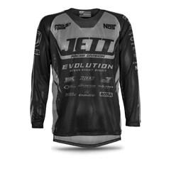 Camisa Jett Mod. Evolution Preto/Grafite
