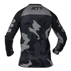Camisa Motocross Infantil Jett Factory Edition 3 Cinza