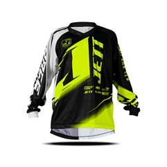 Camisa Motocross Infantil Jett Factory Edition Neon Amarelo