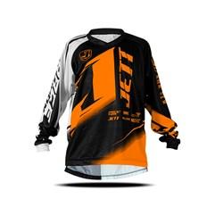 Camisa Motocross Infantil Jett Factory Edition Neon Laranja