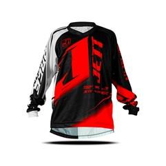 Camisa Motocross Infantil Jett Factory Edition Neon Vermelho