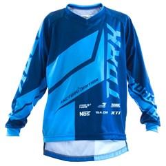Camisa Motocross Infantil Pro Tork Factory Edition Azul