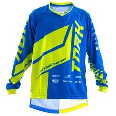 Camisa Motocross Infantil Pro Tork Factory Edition Azul/Amarelo