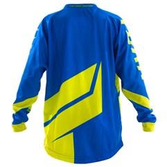 966365e085e4a ... Camisa Motocross Infantil Pro Tork Factory Edition Azul Amarelo