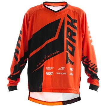 Camisa Motocross Infantil Pro Tork Factory Edition Preto/Laranja
