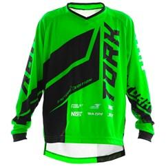 Camisa Motocross Infantil Pro Tork Factory Edition Preto/Verde
