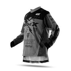 Camisa Motocross Infantil Pro Tork Insane X Cinza
