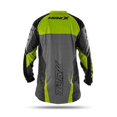 Camisa Motocross Insane X Cinza e Amarelo