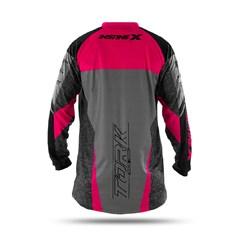Camisa Motocross Insane X Cinza e Rosa
