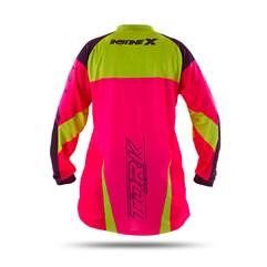 Camisa Motocross Insane X Rosa e Amarelo