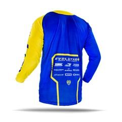 Camisa Motocross Jett Evolution 2 2019 Azul/Amarelo