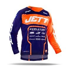 Camisa Motocross Jett Evolution 2 2019 Azul Escuro/Laranja